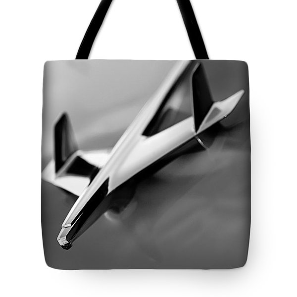1955 Chevrolet Belair Nomad Hood Ornament Tote Bag by Jill Reger