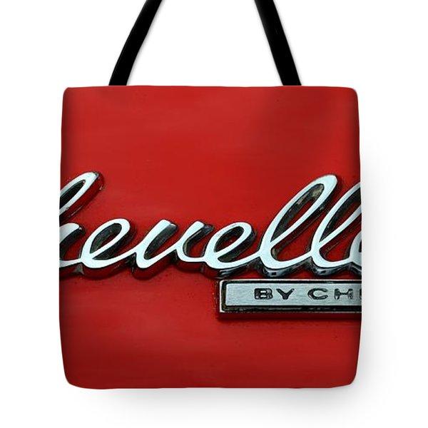 1965 Chevy Chevelle Logo Tote Bag