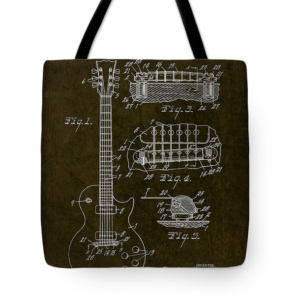 1955 Gibson Les Paul Patent Drawing Tote Bag