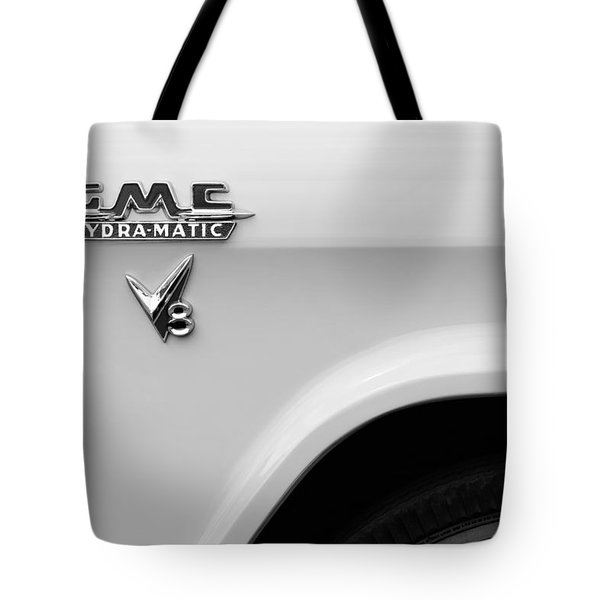 1956 Gmc 100 Deluxe Edition Pickup Truck Emblem Tote Bag by Jill Reger