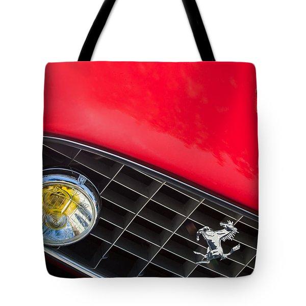 1957 Ferrari 410 Superamerica Series II Grille Emblem Tote Bag by Jill Reger