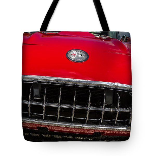 1958 Chevrolet Corvette Grille Tote Bag