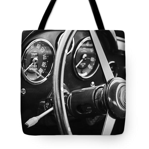 1960 Aston Martin Db4 Gt Coupe' Steering Wheel Emblem Tote Bag