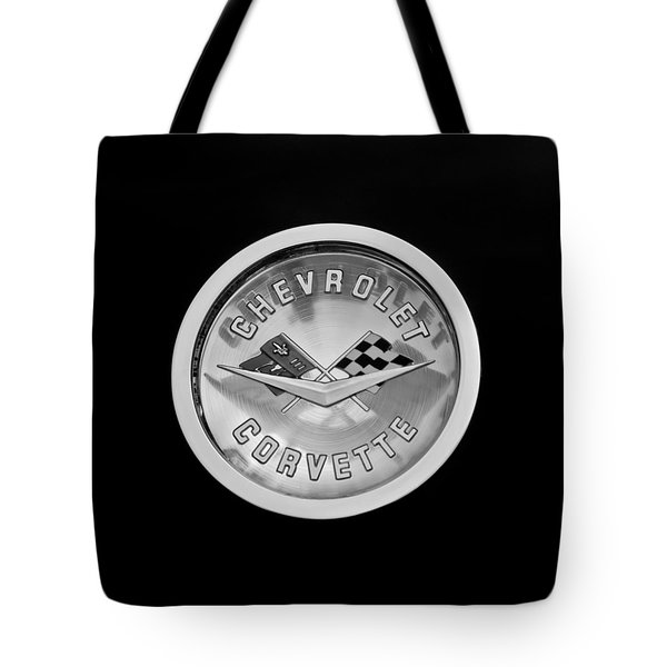 1960 Chevrolet Corvette Roadster Emblem Tote Bag by Jill Reger