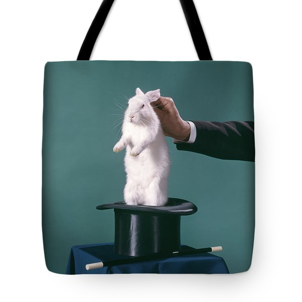 1960s Hand Of Magician Pulling White Tote Bag