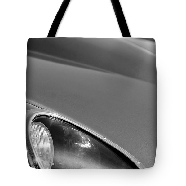 1963 Jaguar Xke Roadster Headlight Tote Bag by Jill Reger