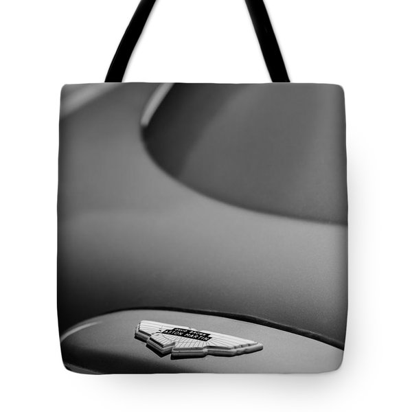 1965 Aston Martin Db5 Sports Saloon Emblem Tote Bag
