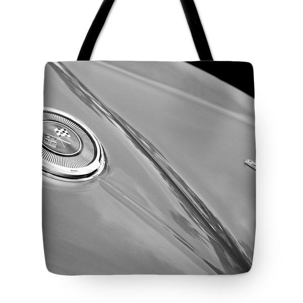 1966 Chevrolet Corvette Coupe Emblems Tote Bag