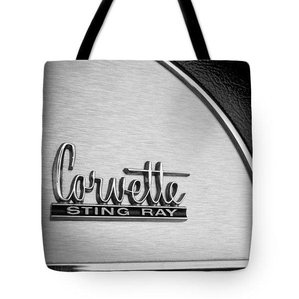 1967 Chevrolet Corvette Glove Box Emblem Tote Bag by Jill Reger
