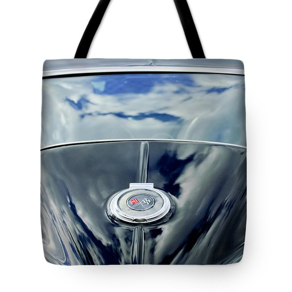 Tote Bag featuring the photograph 1967 Chevrolet Corvette Rear Emblem by Jill Reger