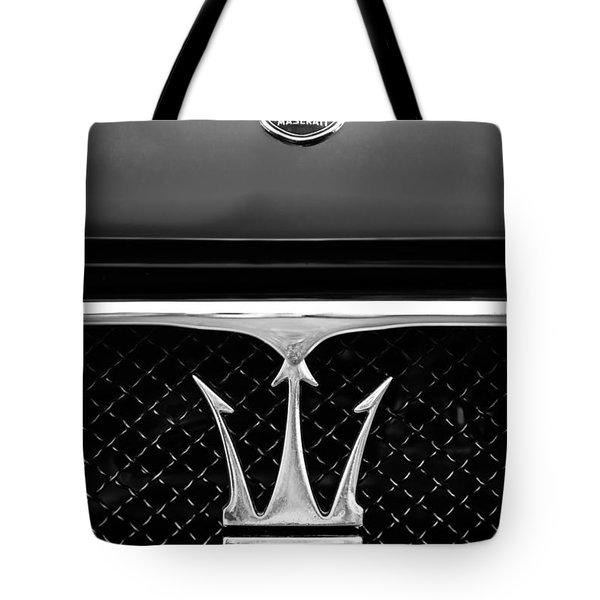 1967 Maserati Ghibli Grille Emblem Tote Bag