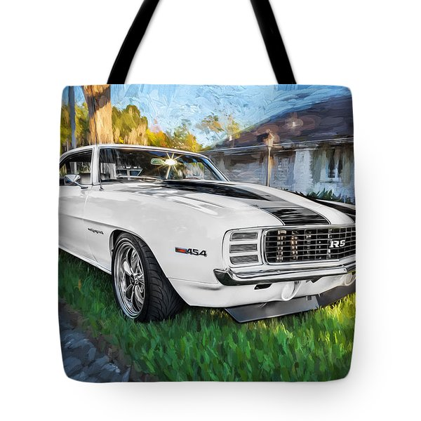 1969 Chevy Camaro Rs Painted  Tote Bag by Rich Franco