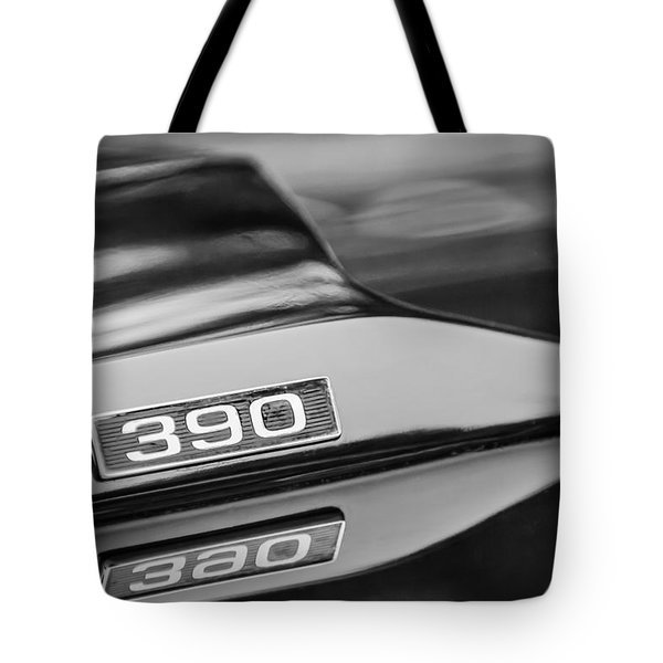 1969 Ford Mustang Mach 1 390 Hood Emblem Tote Bag by Jill Reger