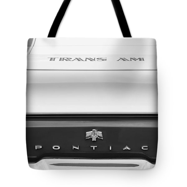 1969 Pontiac Trans Am Tail Fin Emblem Tote Bag by Jill Reger