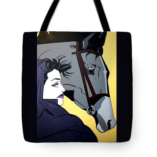 Tote Bag featuring the painting 2 Beauties by Nora Shepley