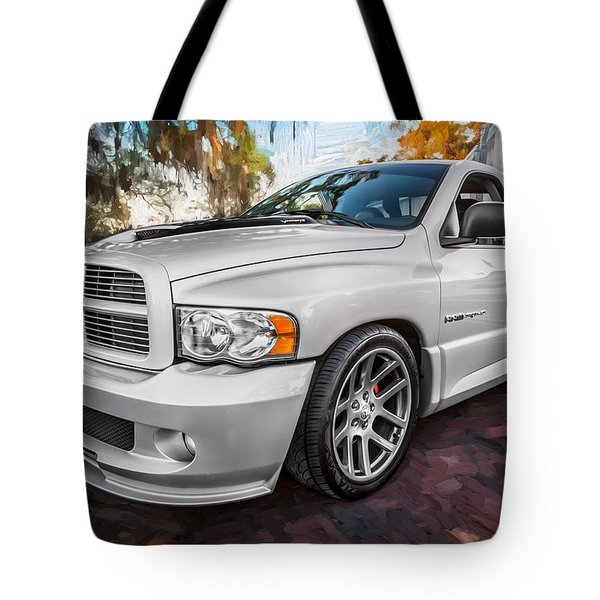 2004 Dodge Ram Srt 10 Viper Truck Painted Tote Bag