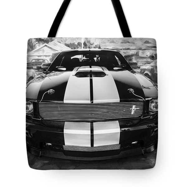 2007 Ford Mustang Shelby Gt Painted Bw   Tote Bag
