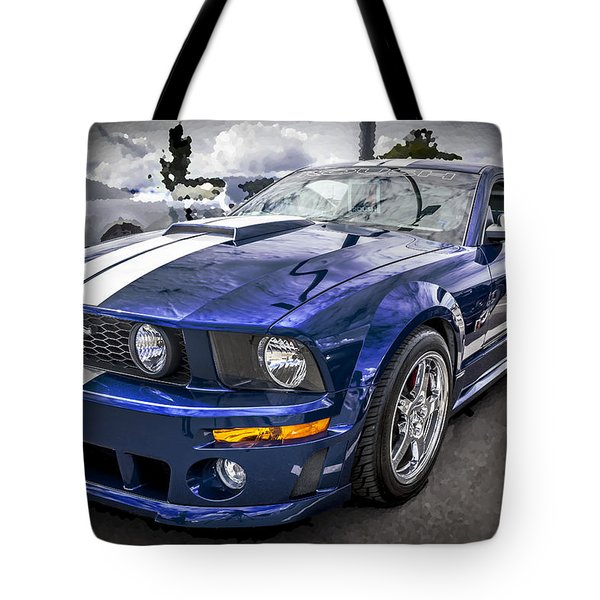 2008 Ford Shelby Mustang With The Roush Stage 2 Package Tote Bag by Rich Franco