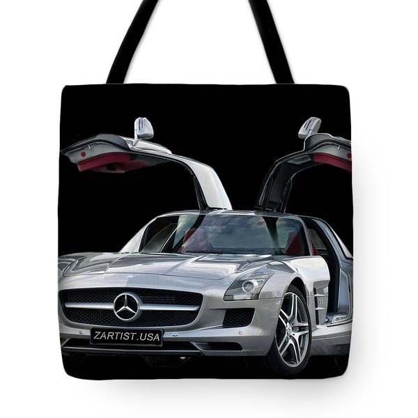 2010 Mercedes Benz Sls Gull-wing Tote Bag
