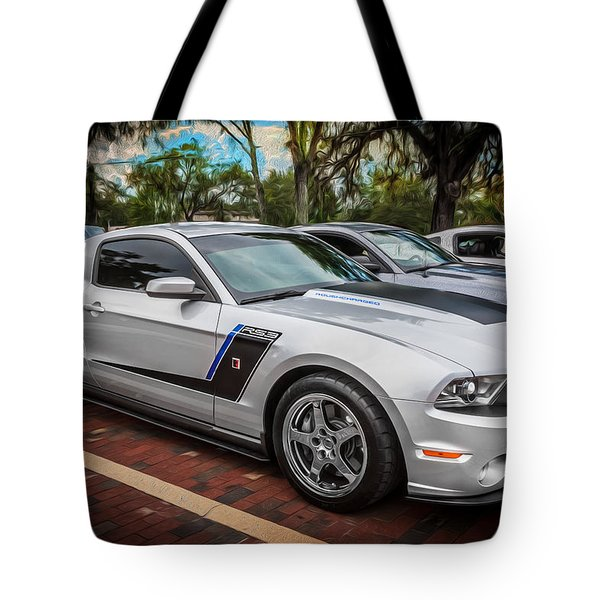 2012 Ford Roush Stage 3 Mustang Rs3 Painted  Tote Bag by Rich Franco
