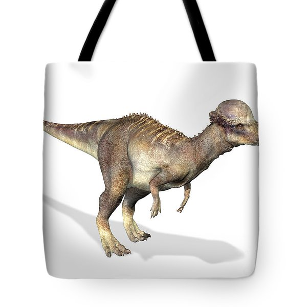 3d Rendering Of A Pachycephalosaurus Tote Bag