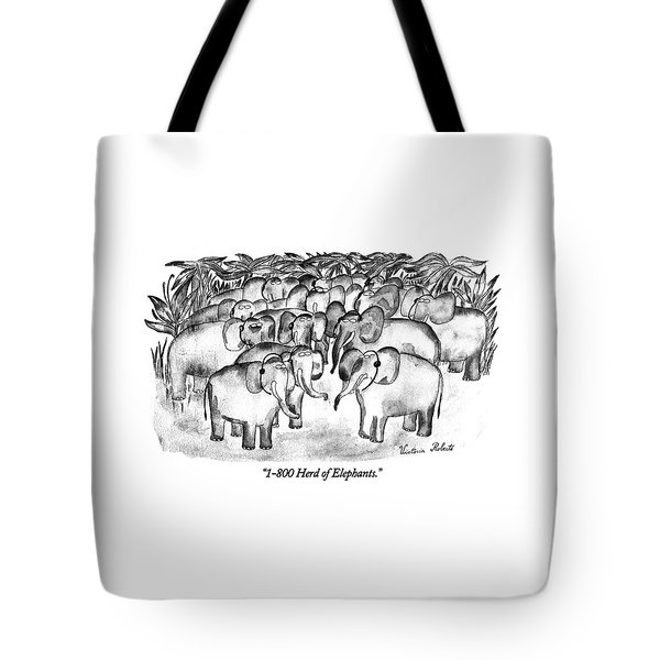 1-800 Herd Of Elephants Tote Bag