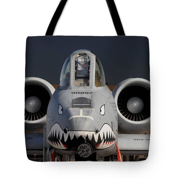 Tote Bag featuring the photograph A-10 Warthog by John Black