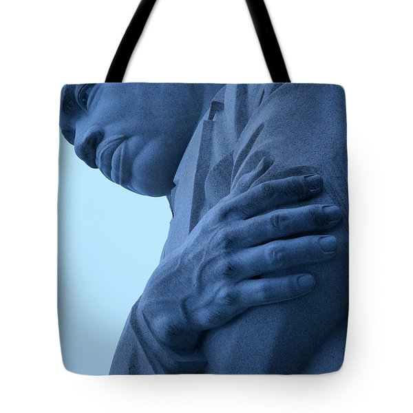 Tote Bag featuring the photograph A Blue Martin Luther King - 2 by Cora Wandel