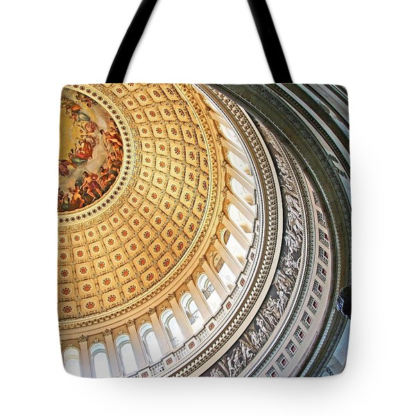 Tote Bag featuring the photograph A Capitol Rotunda by Cora Wandel