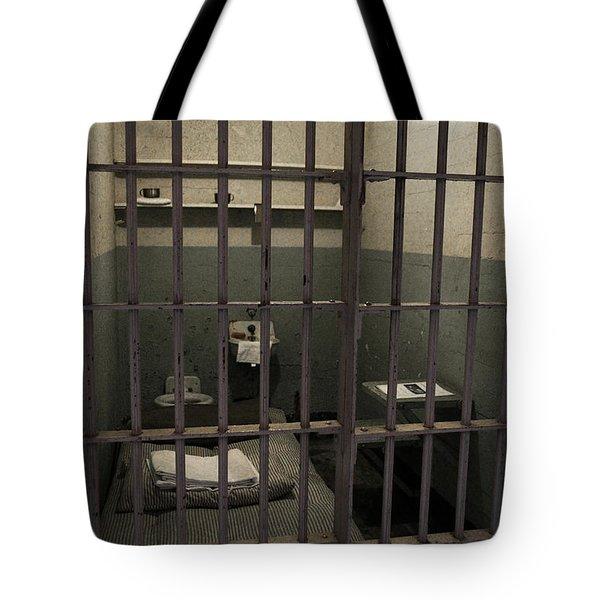 A Cell In Alcatraz Prison Tote Bag