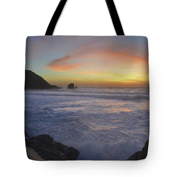 Golden Sky, Beautiful Water Tote Bag