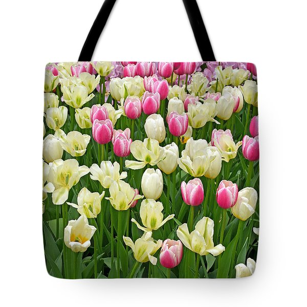 A Field Of Tulips Tote Bag by Eva Kaufman