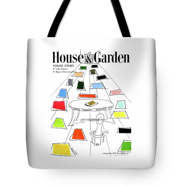 A House And Garden Cover Of Color Swatches Tote Bag