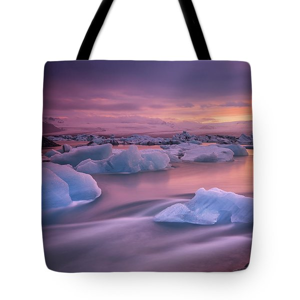 A Long Exposure Of A Sunset Tote Bag