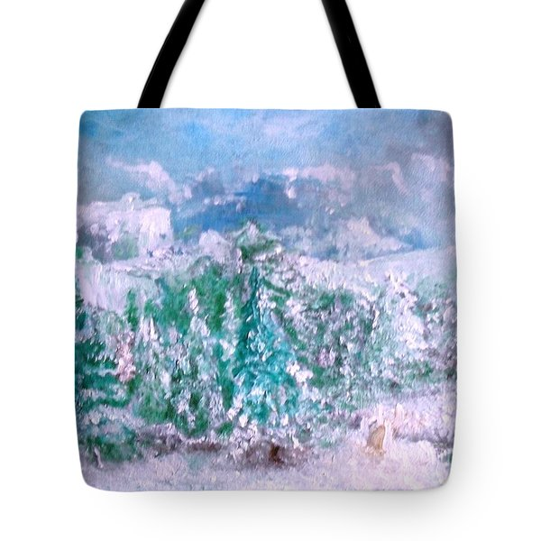Tote Bag featuring the painting A Natural Christmas by Laurie L