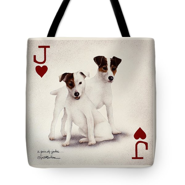 A Pair Of Jacks... Tote Bag by Will Bullas