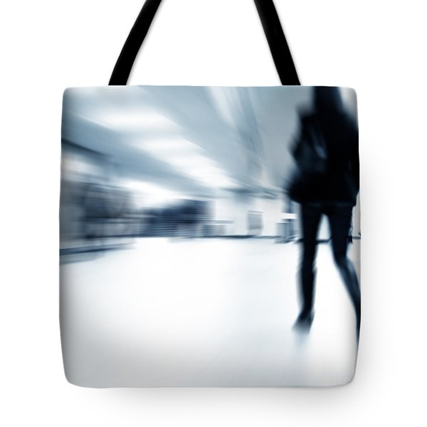 A Person Lost In The Rush Tote Bag by Michal Bednarek