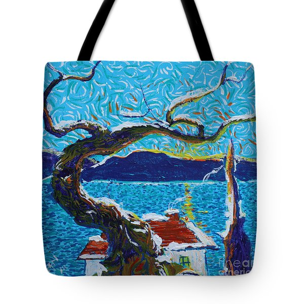 A River's Snow Tote Bag