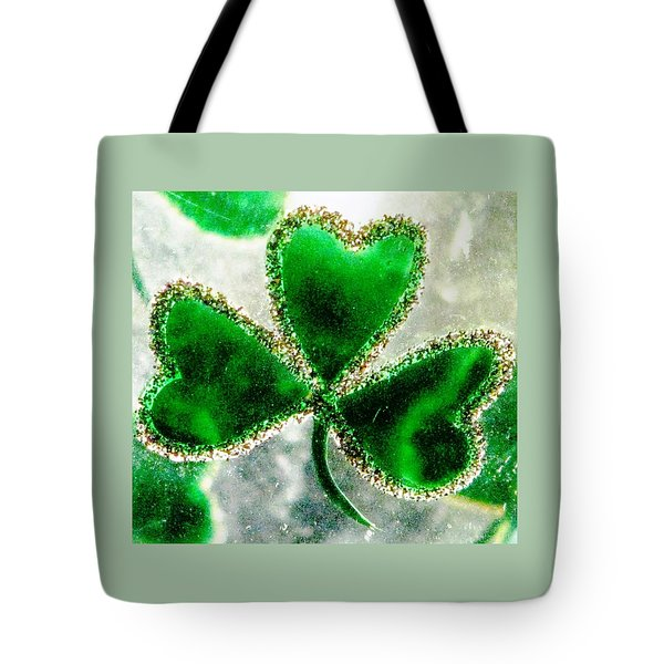 A Shamrock On Ice Tote Bag