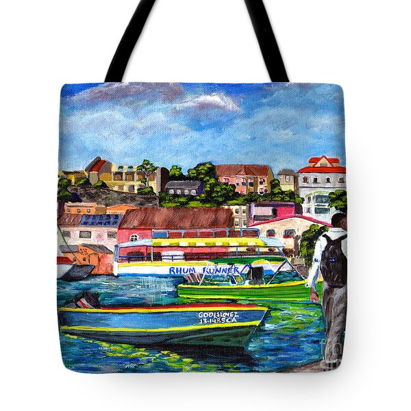 A Stroll On The Carenage Tote Bag