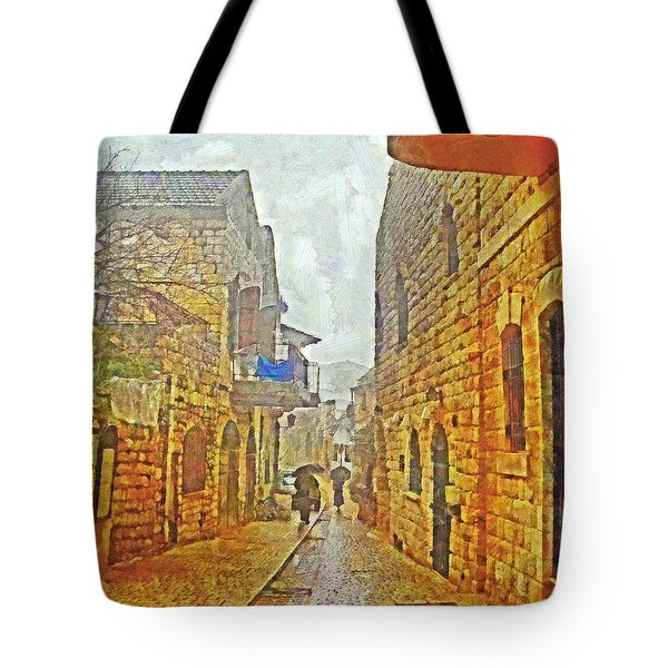A Winter Morning In Haifa Tote Bag