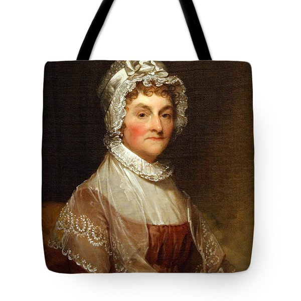 Tote Bag featuring the photograph Abigail Smith Adams By Gilbert Stuart by Cora Wandel