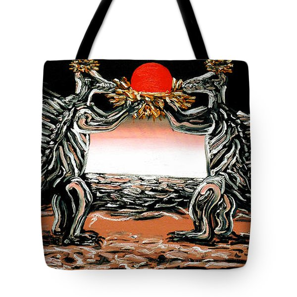 Tote Bag featuring the painting Abiogenic Memetics  by Ryan Demaree