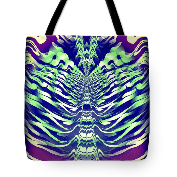 Abstract 140 Tote Bag by J D Owen
