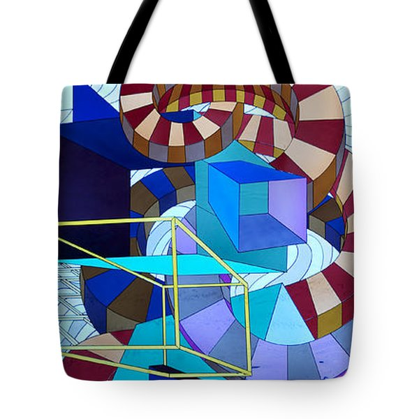 Abstract Art Stained Glass Tote Bag by Mountain Dreams