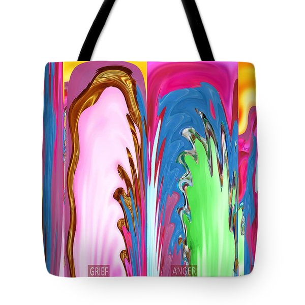 Abstract Emotional Stages  Confusion Disbelief Grief Anger Walkaway Tote Bag