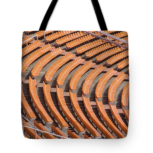 Abstract Pattern - Rows Of The Stadium's Seats Tote Bag