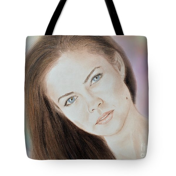 Actress And Model Susan Ward Blue Eyed Beauty With A Mole Tote Bag