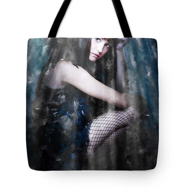 Actress In Stage Spotlight Tote Bag