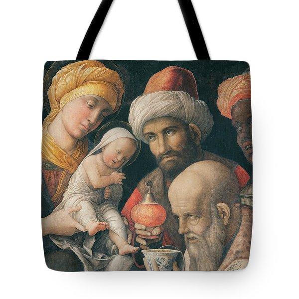 Adoration Of The Magi Tote Bag by Andrea Mantegna